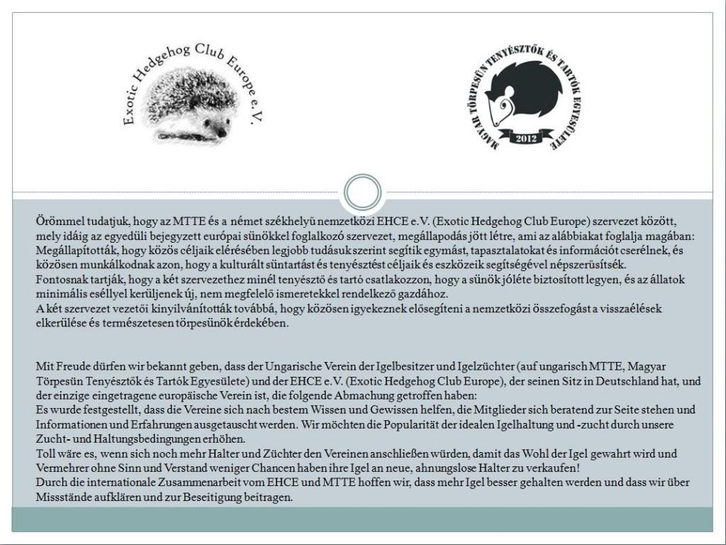 EHCE-MTTE nyilatkozat